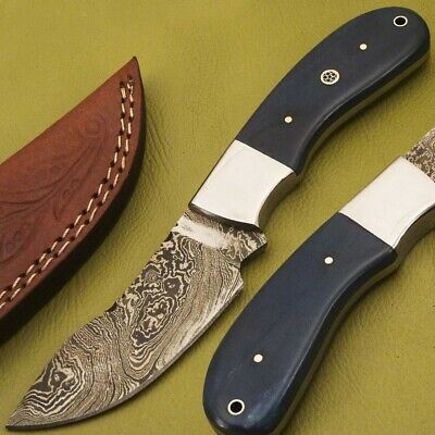 Hand Forged Damascus Steel Full Tang Knife -Stained Camel Bone- Jk-1610
