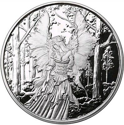 1 Oz 999 Silver Proof Round Coin Lady Of The Forest Amy Brown Collection Bullion