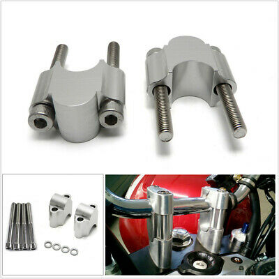 """Pair 7/8"""" 22mm Handlebar Handle Bar Riser Clamp Mount For Motorcycle ATV Scooter"""