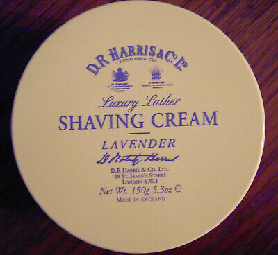 D R Harris Lavender Shaving Cream Tub 150g