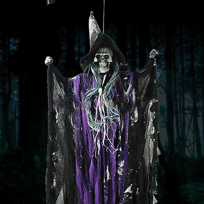 7ft Scary Hanging Skeleton Ghoul Halloween Fancy Dress Prop Decoration New