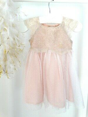 official photos b0af1 bf136 CATHERINE MALANDRINO FESTLICHES Kleid + Cape rosa, Baby, Gr. 6-9