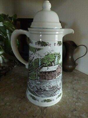 Johnson Brothers Friendly Village Coffee Thermal Carafe or Pitcher Rare