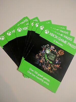 Xbox Game Pass 12 Months Gift Card - UK Only - Free P&P