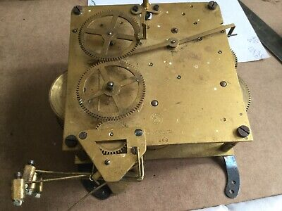ANTIQUE BRAS CLOCK MOVEMENT FOR SPARES.Made In Wurttemberg
