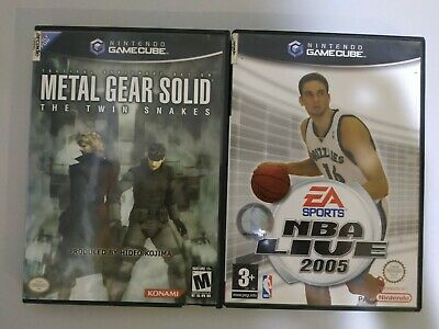 Lote Nintendo GameCube PAL Metal Gear Solid The Twin Snakes + NBA 2005 España