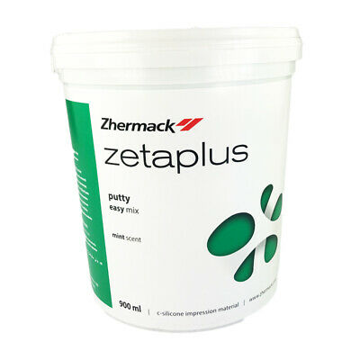 Zetaplus Putty C-Silicone Zhermack Dental Impression Material 900ml Easy Mix