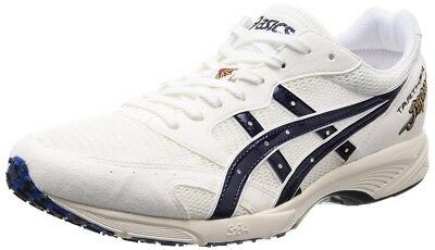 rencontrer 51b15 49a4a ASICS JAPAN RUNNING Shoes TARTHER JAPAN 1013A007 WHITE/BLUE PRINT Made in  Japan