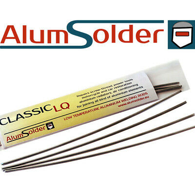 AlumSolder Classic LQ - 4x ALUMINIUM BRASS STEEL welding rods, TUTORIAL VIDEO