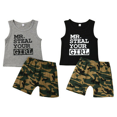 2f3450fd2 Baby & Toddler Clothing Outfits & Sets Infant Baby Boys SHARK Personalized  Summer Tank Tops Vest ...