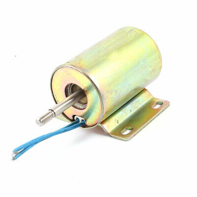 110V 1.15A 15mm Stroke 2Kg Force Wired DC Push Pull Type Solenoid Electromagnet