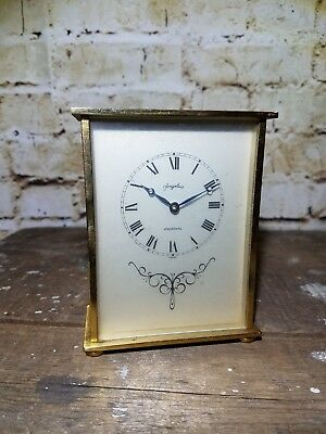 Vintage Angelus Mantel Clock: Swiss Made: For Parts Or Repair: See Pics