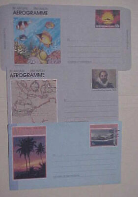 Cocos Island Air Letter 3 Diff. Mint