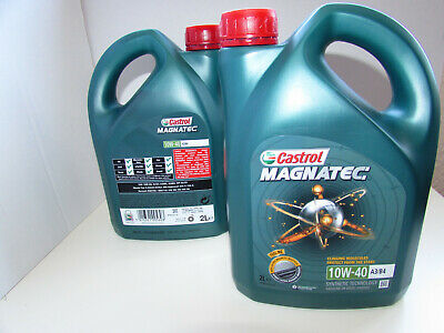 2 x 2L Castrol Magnatec 10W-40 Part-Synthetic Engine Oil ACEA A3/B4  = 4L