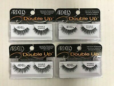 7fc21f9fb8a 4 Pairs Ardell Double Up Eyelashes Layered Lashes Double Wispies Black El  5233