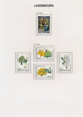 XB48414 Luxembourg 1995 trees nature flora religious art MNH
