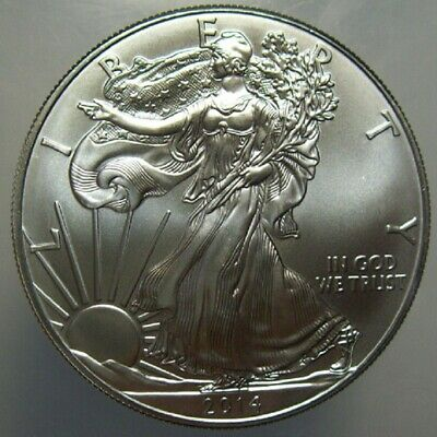 2014 $1 .999 Pure Silver American Eagle 1 Oz. BU Collectible Coin