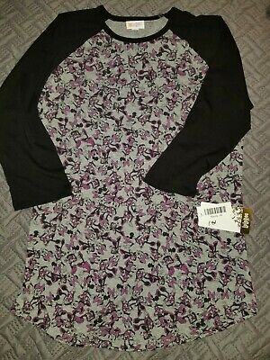 21a8fc62027374 New LuLaRoe DISNEY Randy Minnie Mouse Raglan Top SHIRT 3/4 Slv WOMEN med