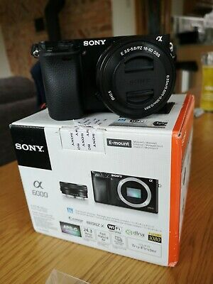 Sony A6000 Mirrorless Dslr Camera With 16-50Mm Lens Black *a1 Condition*