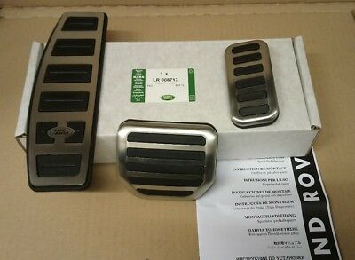Land Rover Discovery Range Rover Sport Stainless Steel Pedal Pad Set