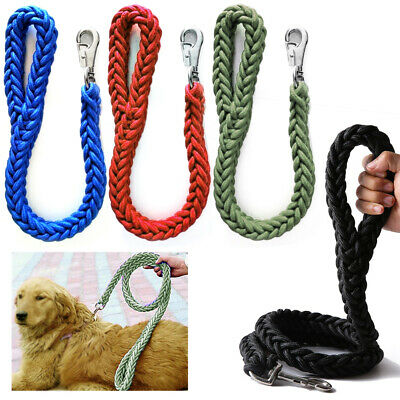 1 Braided Heavy Duty Dog Leash Thick Lead Rope Medium Large Breed Strong Hold