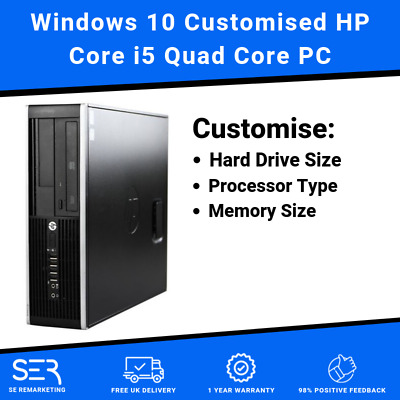Windows 10 Customised HP Core i5 Quad Core DDR3 Desktop PC Computer - 16GB / 8GB