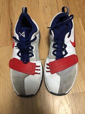 6e14b0af6c89 NIKE PG 1 (GS) Paul George Youth Boys Basketball Shoe Red white blue ...