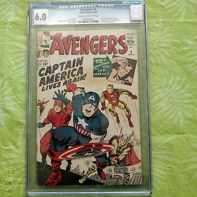 Avengers #4 Cgc Universal 6.0 1St Silver Age App. Of Captain America