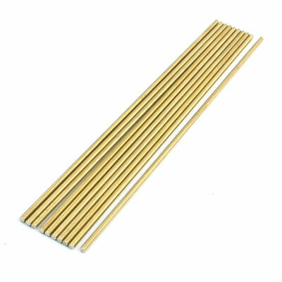 10Pcs Brass 200mm x 3mm Round Rod Stock for RC Airplane Model