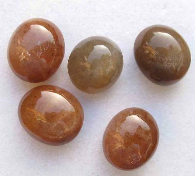 35.60 Ct 100%Natural Shiny Star Golden Sunstone Oval Cabochon Loose Gemstone Lot