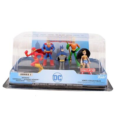 Funko! Heroworld - DC Superheroes 5 Pack Vinyl Collectibles - Brand New