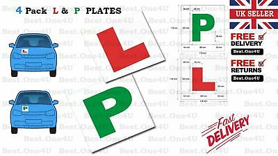 4 X PLATES LEARNING (L & P ) MAGNETIC 2 x L Plates & 2 x P Plates