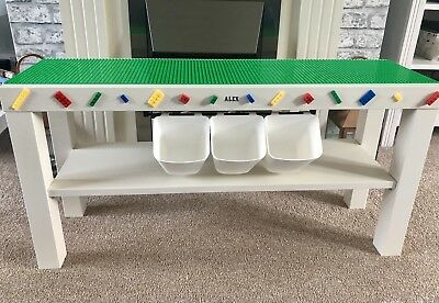 Childrens Baseplates Construction Play Table Build Compatible with Lego & Duplo