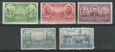 Scott #785-794 1936-37 Army/Navy Series - All are mint never hinged
