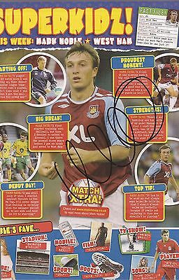 WEST HAM: MARK NOBLE SIGNED A4 (12x8) MAGAZINE PICTURE+COA
