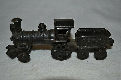 Antique Late 1800's Harris Cast Iron Steam Locomotive Train & Tender 150