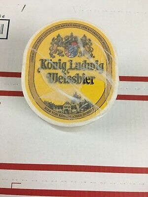 New Unopened Sleeve Of Konig Ludwig Weissbier BEER COASTERS