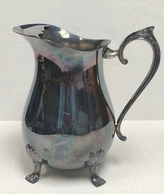 Vintage Leonard Silver Plate Footed (4) Water Pitcher with Ice Lip