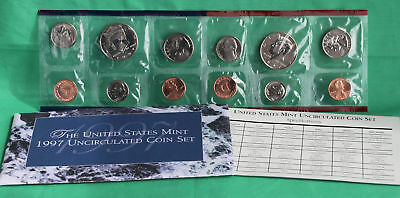 1997 P and D Annual United States Mint Uncirculated 10 Coin Set Complete