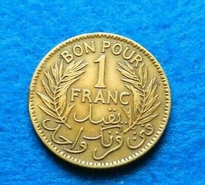 1921 Tunisia Franc - Great looking coin - see pictures