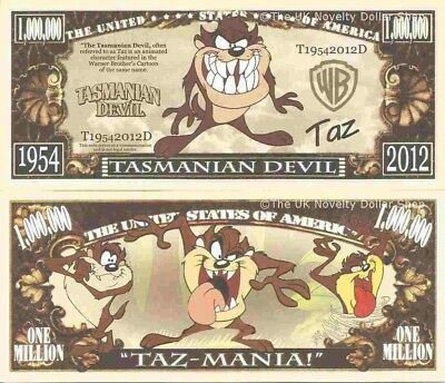 Pinky and the Brain I Want To Take Over The World Million Dollar Bills x 2