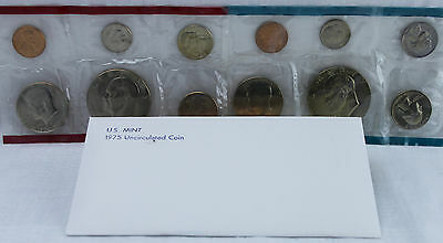 1975 P and D US Mint Uncirculated 12 Coin Set BU Annual Philadelphia and Denver