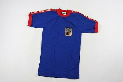 803f01a3276 Vintage 90s Youth XL Short Sleeve Team USA World Cup Soccer Jersey Blue  Nylon