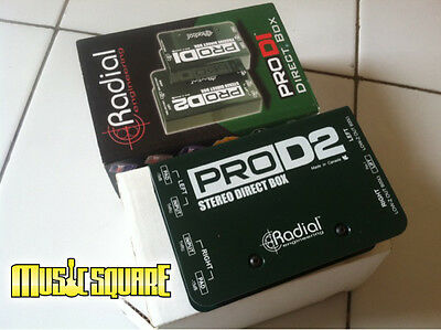 Radial Engineering ProD2 Passive Stereo Direct Box Bass/Guitar/Synth ProDI 2