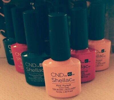 🎉Cnd shellac UV gel nail polish power varnish choose any colour