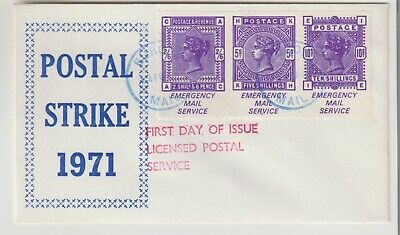 Gb Stamps First Day Cover 1971 Strike Mail Victoria High Values Rares Collection