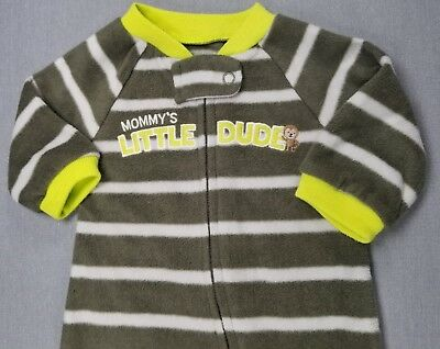 3ed96310d Just One You By Carter's Newborn Baby Boy Fleece Little Dude Footed Sleep N  Play