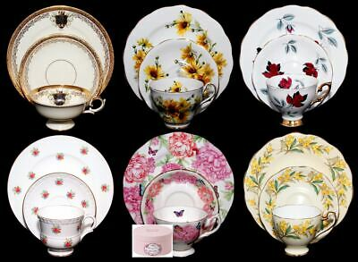 Trio Tea Sets by Royal Albert, Queen Anne, Staffordshire and More - You Choose