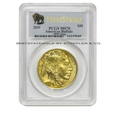 2010 $50 Buffalo PCGS MS70 First Strike US Gold coin American bullion 1oz 24kt