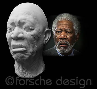 Morgan Freeman Life Mask Shawshank Redemption Unforgiven The Dark Knight Rises